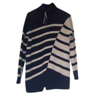 Farhi by Nicole Farhi Wool Contrast Striped jumper