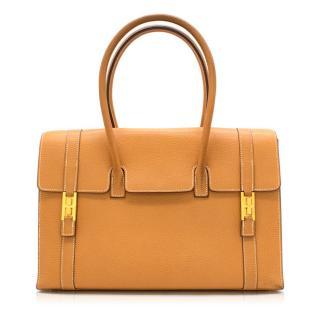 Hermes Natural Sable Clemence Leather Drag Bag 32cm