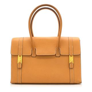 Hermes Natural Sable Clemence Leather Drag Bag 32cm