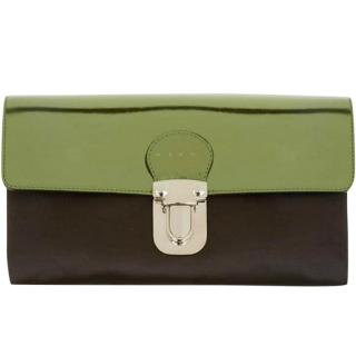 Marni Metallic Leather & Satin Clutch Bag
