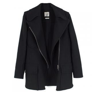 Hermes black double-faced cashmere-blend jacket