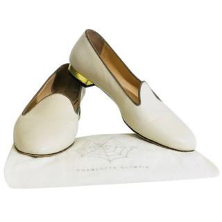 Charlotte Olympia Leather Flats