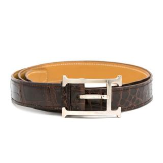 Hermes Meil Porosus Crocodile Leather Belt