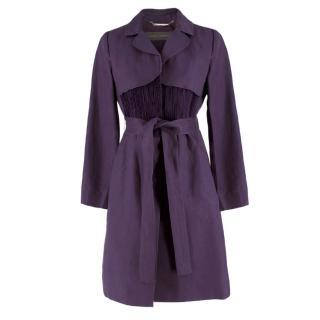 Alberta Ferretti vintage purple belted silk jacket