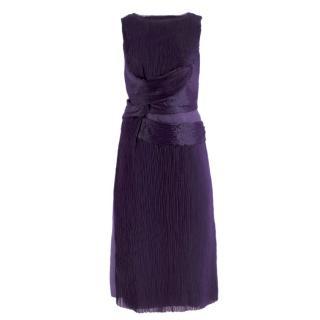 Alberta Ferretti vintage purple silk dress