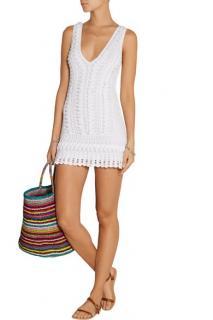 Melissa Odabash Alexis White Crocheted Dress