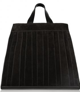 Tamara Mellon Sugar Daddy leather-trimmed suede tote