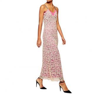 Self-Portrait guipure lace column dress