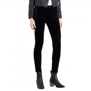 J Brand Zion mid-rise skinny velvet trousers