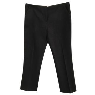 MIU MIU virgin wool blend navy blue stretch trousers