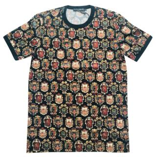 Dolce & Gabbana black multicolour T-shirt