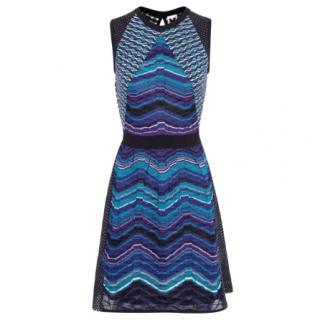 M Missoni Cut-Out Back Crochet-Knit Dress