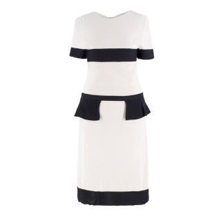 Giambattista Valli Ivory Peplum Dress