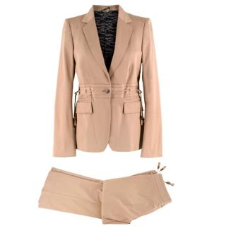 Gucci beige gabardine safari suit