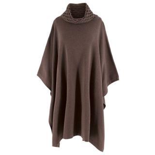 Temperley London Brown Wool Poncho