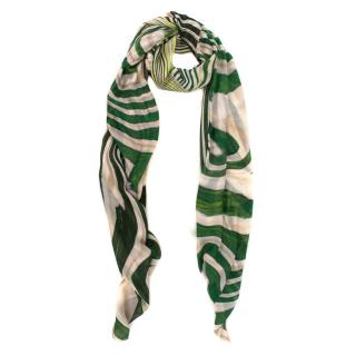 Roberto Cavalli abstract-print silk-satin shawl