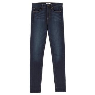 Paige Blue High Waisted Skinny Jeans