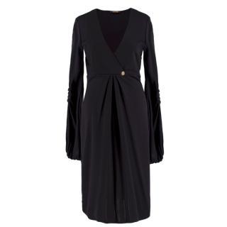 Roberto Cavalli Black V-Neck Dress
