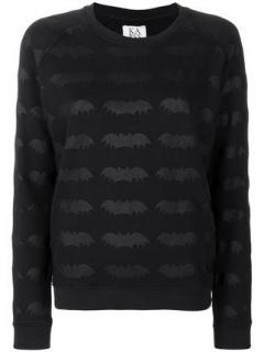 Zoe Karssen Black Bat Print Sweatshirt