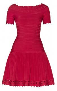 Herve Leger Red Khloe Bandage Dress