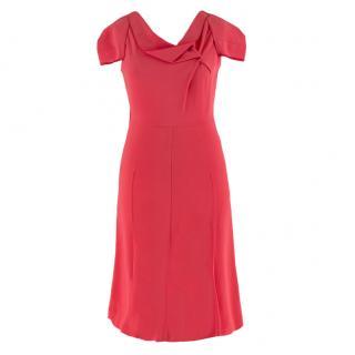 Roland Mouret cowl-neck double-crepe dress
