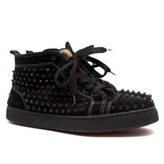 Christian Louboutin Louis Spike high-top suede trainers