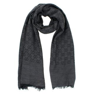 Gucci GG jacquard wool and silk-blend scarf