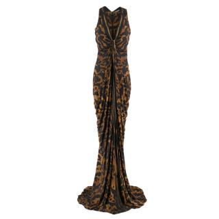 Alexander McQueen leopard-print gown