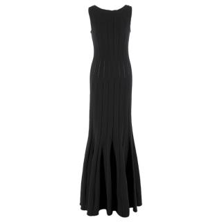 Alaia Black Fitted Fishtail Gown