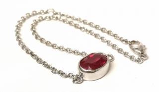 Bespoke Rubilite Stack Bracelet 18ct White Gold
