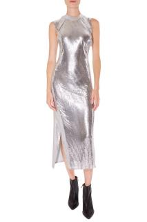 Paco Rabanne Silver Sequin Cocktail Dress