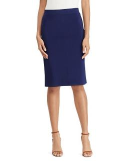 Polo Ralph Lauren Navy Blue Pencil Knee Skirt