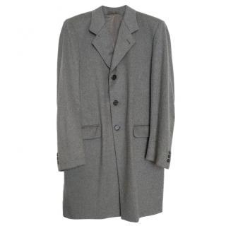 Bespoke Italian Cashmere & Wool Grey Coat