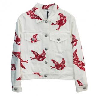 Miu Miu White Denim Jacket.