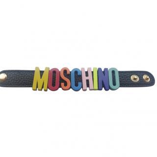 Moschino logo cuff bracelet