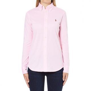 Polo Ralph Lauren Pink Button Down Long Sleeved Oxford Shirt