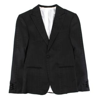 Stefano Ricci boys single-breasted silk-jacquard blazer