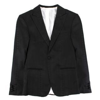 Stefano Ricci boys single-breasted silk-jacquard blazer