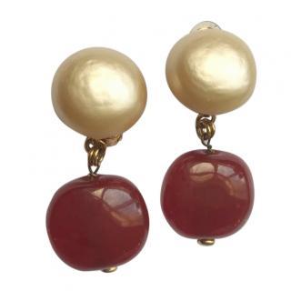 Chanel Drop Pearl Earrings