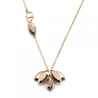 Christian Dior Gold-tone petal necklace