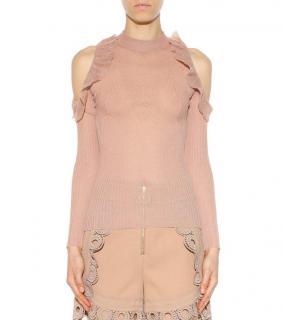 Self-Portrait cold-shoulder knit top