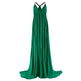 Amanda Wakeley embellished-strap draped gown