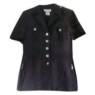 Escada Black Zebra Buttons Jacket