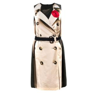Moschino Cheap and Chic belted trench print dress