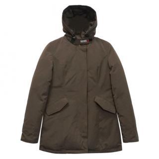 Woolrich Duck Goose Down Fill Hooded Ramar Cloth Arctic Parka Coat