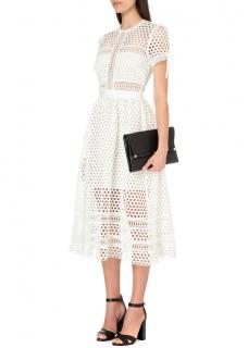 Self-Portrait white circle-lace A-line dress