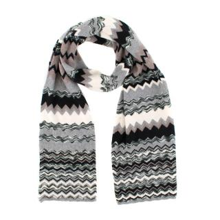 Missoni zigzag-knit wool scarf