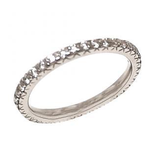 Bespoke Full Diamond Eternity Ring 18ct Gold 0.74ct