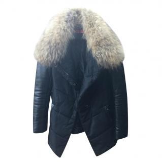 Georgio & Mario Leather and Fur Puffa Jacket