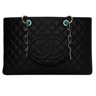 CHANEL Black Caviar XL Grand Shopping Tote